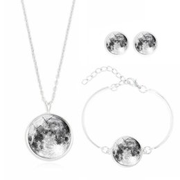 $enCountryForm.capitalKeyWord Australia - 2019 new hot universe Galaxy series time glass ladies necklace earrings bracelet custom items three-piece