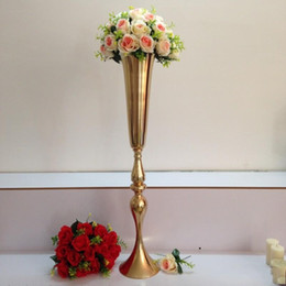Silver Candle Holders Wholesale NZ - 88cm height silver gold metal candle holder candle stand wedding centerpiece event road lead flower vase wedding flower stand