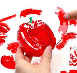 $enCountryForm.capitalKeyWord Australia - Novelty Snow White Crystal Apple 3D Puzzle Irregularity Piece Intelligence Development Toys Simulation Fruit Assemble Toy Wholesale