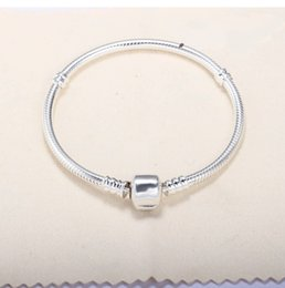 $enCountryForm.capitalKeyWord Australia - Factory 16cm-23cm Silver Plated Bracelets 3mm Snake Chain Fit Charm Bead Bangle Bracelet Jewelry Gift For Men Women