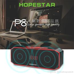 $enCountryForm.capitalKeyWord Australia - HOPESTAR P8 Bluetooth Speaker Wireless WaterProof IPX6 Column Box Bass Mini Subwoofer Portable With TF Card USB FM Mic speaker Charge Mobile