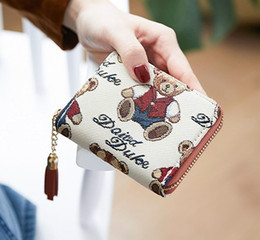 $enCountryForm.capitalKeyWord Australia - Free shipping High quality England women Cartoon Bear lovely wallet Coin pures high-end luxury designer zipper wallet Gift billfold bag 002