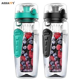 bpa free juice bottles wholesale Australia - BPA Free Fruit Infuser Water Bottle Juice Shaker Sports Lemon Water Bottle Fitness Sport Fruit Drinking Bottles for