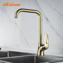 Oil Rubbed Brass Kitchen Faucet Australia - Accoona Kitchen Faucet Polished Oil Rubbed Brass Swivel Kitchen Sinks Faucets 360 degree rotating Mixer Tap A4416C