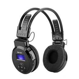 mp3 player headphones headset radio 2020 - Sports Folding Headphones MP3 Player with LCD Screen Support mirco SD Card Play,FM Radio Wireless Music Earphone On-ear