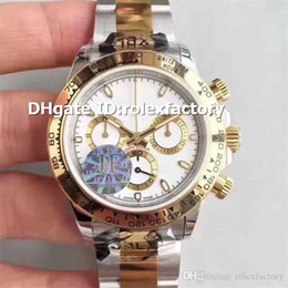 18k Luxury Watches Swiss Australia - Luxury 116503 Mens Watch Stainless Steel & 18K Yellow Gold White Dial Swiss ETA 7750 Automatic Chronograph 28800bph Water resistance 50M