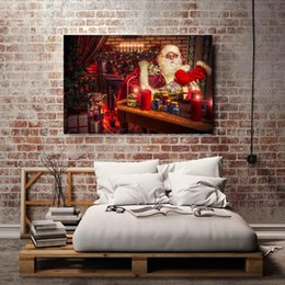 $enCountryForm.capitalKeyWord Australia - Christmas Santa Claus,1 Pieces Home Decor HD Printed Modern Art Painting on Canvas (Unframed Framed)