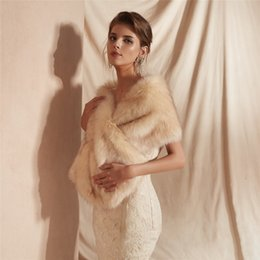 short mink fur NZ - Formal dress wedding dinner annual meeting cocktail party autumn winter thickened imitation mink fur Short hair shawl