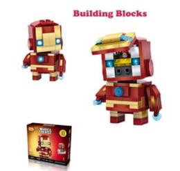 Batman Blocks Australia - LOZ Mini Super Hero Blocks Batman Captain America Thor Iron Brick Heads Action Figure Assemblage Blocks Toys