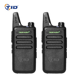mini uhf radio NZ - 2pcs Mini Walkie talkie TD-M8 16CH UHF 400-470MHz Radio Station Two-way Radio Portable Ham CB For Kids Walkie Talkie