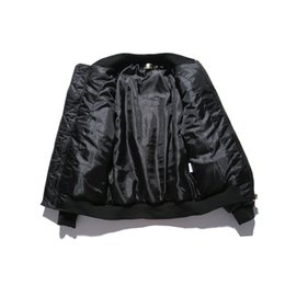 Wholesale black gold leather jacket women resale online – New Arrival Men Women Black Gold Embroidery Thick PU Leather Sleeve Jacket Men s Casual Baseball Cotton Jacket