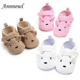 Crocheted Shoes For Babies Australia - Newborn Baby Crib Shoes Fashion Cute Cartoon Infant Girl Knitted Shoe for 1 Year Old Boy Toddler Crochet Christian Birthday Gift