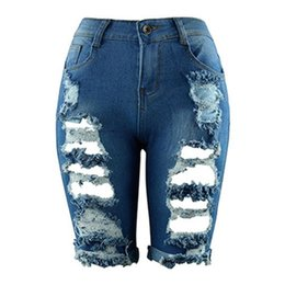6a11dda43649 New Women Shorts Jeans Short Feminino Denim Femme Mujer Mid Waist Hole Sexy  Hot Summer Fashion Chic Plus Size 3XL #607284