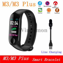 tracker bracelet NZ - M3 Plus Fitness Bracelet Pedometer Heart Rate Monitor Watch Activity Tracker M3 Smart Bracelet Blood Pressure Monitor Smart Wristband