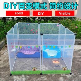 kennels pens Australia - NEW Transparent pen pet dog pen pet DIY free combination animal cat crate cave multi-functional sleeping dog playing kennel