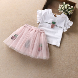 80f903c4648d Pineapple Clothing Australia - good quality 2Pcs Set Girls Dress Set Summer Baby  Girl Clothes Sets