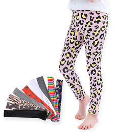 Discount bohemian leggings - 2019 Spring Autumn children 9 colors Leggings Baby girls Warmer Tights kids Leopard stripe pineapple print Pants 110-120
