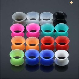 color tunnel plug Australia - 20 ps per lot mix color Silicone Ear Tunnels man womans Ear Gauge Fashion Punk Jewelry Tunnels Plugs Top Quality Ear Stretcher wholesale