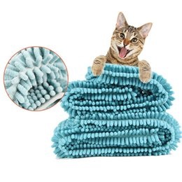 $enCountryForm.capitalKeyWord Australia - idYllife Pet Towels for Cats Dog Puppy Shower Baby Bathing Cleaning Soft Absorbent Drying Blanket Warm Mat Pet Grooming