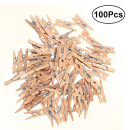 $enCountryForm.capitalKeyWord Australia - Cheap Garment Clips 100pcs 2.5CM Wooden Clothespins Clothes Pegs Pins For Home Decoration Picture Clamp Wooden Clamps