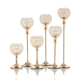 $enCountryForm.capitalKeyWord Australia - VINCIGANT Crystal Tealight Candle Bowl Holders Metal Glass Candlesticks Stand Wedding Table Centerpieces Holiday Home Decoration