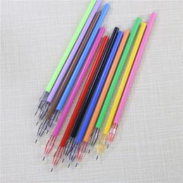 gel pen diamond 2019 - Diamond Head Factory Direct Creative Stationery Candy-color Gel Pen Refills For The Core 0.38mm 12 Color cheap gel pen d
