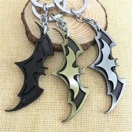 Gun Electronic Australia - 2019 New Fashion Avenger Union Batman Keychains for Bag Key Holder Charm Hanging Pendant Car Key Chains Key Ring Women & Men