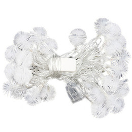outdoor battery fairy lights Australia - Battery Poweredl Snowball Fairy LED String Light Outdoor Garden Decoration Street Lights Christmas New Year Garlands Hot