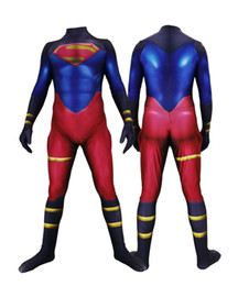 ternos da pele do corpo venda por atacado-3D Full Body Lycra Spandex Traje Da Pele Catsuit Traje Do Partido Superboy Zentai Bodysuit Halloween Party Cosplay Macacão ZenTai