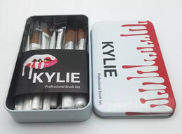 Discount kylie jenner makeup for NEW Kylie Jenner Makeup 12 Pcs Set Makeup Brush Jenner Brush 12 Pcs Set With Bag Makeup Brushes for Valentines Day Gifts