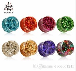 tunnels plug 8mm Australia - 54pcs lot hot fish design transparent acrylic ear tunnels with water piercing body jewelry saddle plugs 8mm to 25mm.
