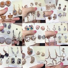 $enCountryForm.capitalKeyWord Australia - Fashion Electroplating 18K Gold Simple and Elegant Zircon Micro-set Pearl Earrings Female Earrings Temperament Jewelry