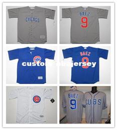 $enCountryForm.capitalKeyWord Australia - Cheap Custom Javier Baez baseball jersey #9 Cool Base jerseys Home Away Stitched Retro Mens jerseys Customize any name number XS-5XL