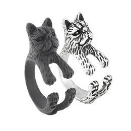 $enCountryForm.capitalKeyWord UK - New Fashion Black Short Hair Persian Cat Ring Anel Boho Chic Wedding Cat Animal Rings For Women Men Jewelry Best Friend Baby Gift Wholesale