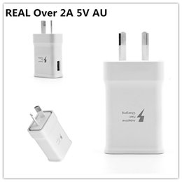fast charge plug NZ - High Quality Adaptive Fast charging REAL Over 2A 5V AU Plug Charger Adapter For iPhone Samsung Xiaomi HTC Phone