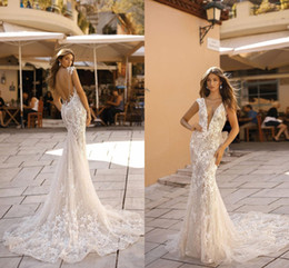 45a17b0c16 Tulle TrumpeT wedding dress online shopping - Sexy Shinny Full lace Mermaid Wedding  Dresses Vintage Backless