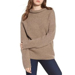 Turtleneck Ribbed Solid Pullover Winter Sweaters Korean Knitted Top Fashion  Spring Streetwear 2019 Women Oversized Sweater M0125 5e8a6f614