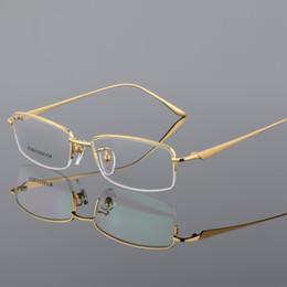 f489ef3b8e Cubojue Gold Titanium Eye Glasses Frame Men Eyeglasses Man s Optic  Prescription Spectacles Ultra-light High Quality Male Degree