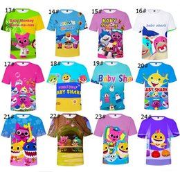 $enCountryForm.capitalKeyWord Australia - Baby Shark T-shirts For Kids Adults Men Women 26 styles Baby Shark T shirt Kids Cartoon Baby Shark Summer Clothing Kids Gifts XXS-4XL A419