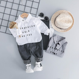 Boy Chinese Suit Australia - 2019 Spring Baby Boys Clothing Children Clothes Suits Leisure Gentleman Style Shirt Pants 2Pcs Sets Kids Toddler Infant Costume
