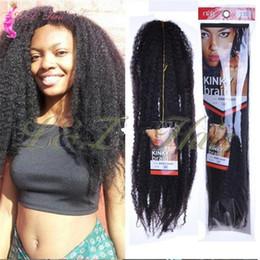 $enCountryForm.capitalKeyWord Australia - Marley Braids Hair Afropunk Kinky Curly Kanekalon Synthetic Fluffy Crochet braids Marley Synthetic Afro kinky curly 18 inch 19 colors