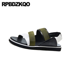 red roman sandals Australia - native roman outdoor red men gladiator sandals summer designer green high quality 2020 beach shoes casual slip on flat open toe