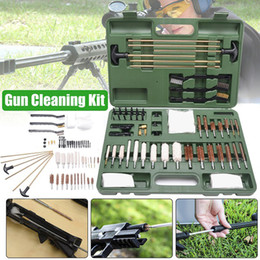 $enCountryForm.capitalKeyWord Australia - 56pcs Universal Gun Cleaning Kit Rifle Pistol Handgun Shotgun Firearm Cleaner Tools Brushes Mops Brass Rods Spear Pointed Jags