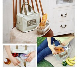 Picnic Ice Packs Australia - Free Shipping 2019 Heat Lunch Bag Cooler Insulation Lunch Bag Ladies' Lunch Box Hand-held Patent Leather PU Picnic Pack Insulation Ice Pack