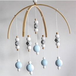 BaBy chime rattles online shopping - Baby Rattle Mobile Toys Wooden Beads Crib Toy Bed Hanging Newborn Wind Chimes Bell Nordic Kids Room Decoration Photography Props