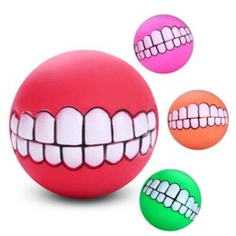 $enCountryForm.capitalKeyWord NZ - Pet Supplies Pet Silicone Vocalization Toy 7.5cm Tooth Ball Pet Vocalization Toy Non-toxic Environmental Protection MOQ:10pcs Free Shipping
