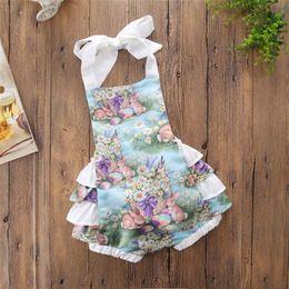 $enCountryForm.capitalKeyWord Australia - Easter 2019 Newborn Baby Girls ins Clothing Kids Princess Purple Bunny Lace Halter Romper Baby Clothing girl cute rabbit Jumpsuit C31