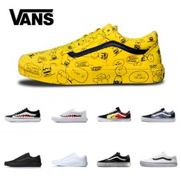 4c6adc1894 Vans Old Skool Men Women Casual Shoes Rock Flame Yacht Club Sharktooth  Peanuts Skateboard Mens Fashion Sport Running Sneaker Size 4.5-10.5