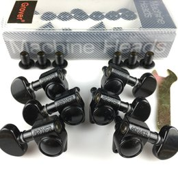 Wholesale Grover Guitar Machine Heads Tuners 1Set 3R-3L Black Tuning Pegs ( With packaging )