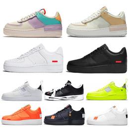 Großhandel supreme nike air force 1 shadow forces one shoes Laufschuhe für Männer Frauen Weiß Schwarz Orange Rot Herren Trainer Weizenrosa Damen Dunk 1 Sport Sneakers Outdoor Schuhe